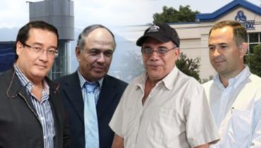 Fotoarte D1.  De izquierda a derecha: Luis Martínez, Juan Samayoa, José Adán Salazar y Wilfredo Guerra.