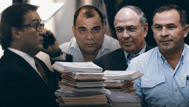 Fotoarte D1. De izquierda a derecha: Luis Martínez, José Adán Salazar, Juan Samayoa y Wilfredo Guerra.