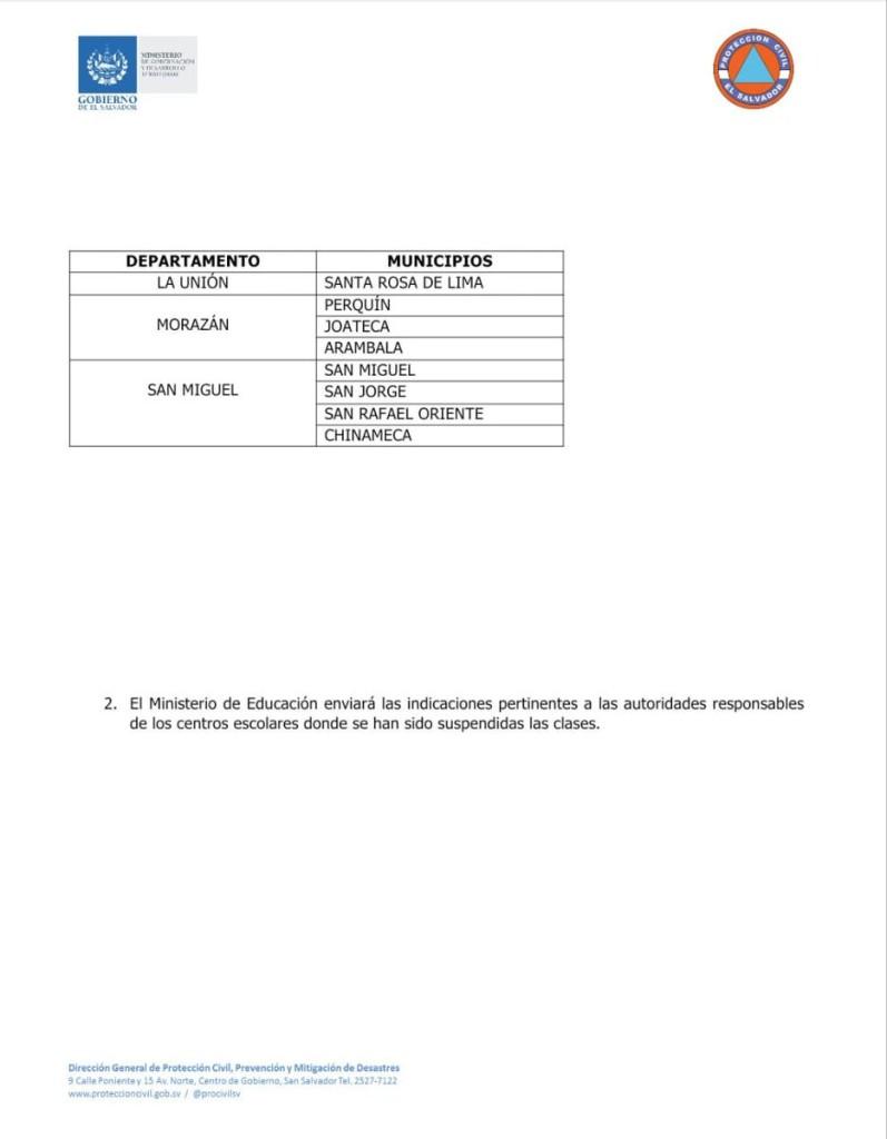 municipios suspensión de clases2