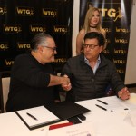 Fito Salume, presidente de Alianza FC y Daniel Pasarella, director ejecutivo de World Talent Group. Foto D1: Miguel Lemus.
