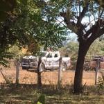 Escena donde fueron asesinados dos agentes en San Miguel. Foto cortesía/ Diario 1