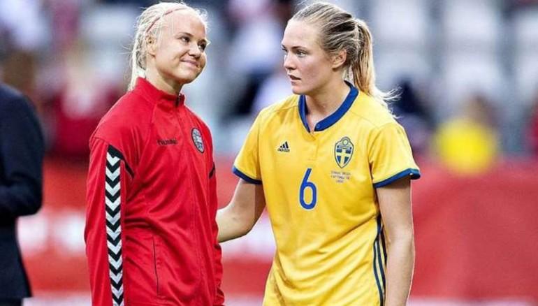 Danesa y sueca mostraron su amor en Mundial Femenil