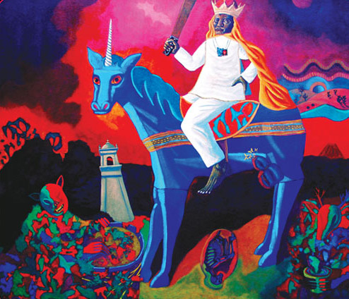 Anastasio Aquino rey de Los Nonualcos pintura de Antonio Bonilla