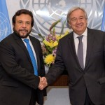 Félix Ulloa y António Guterres