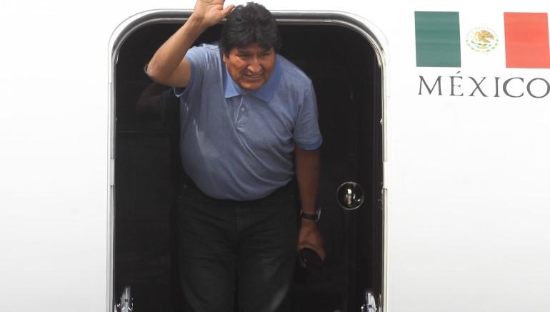Evo Morales llega México