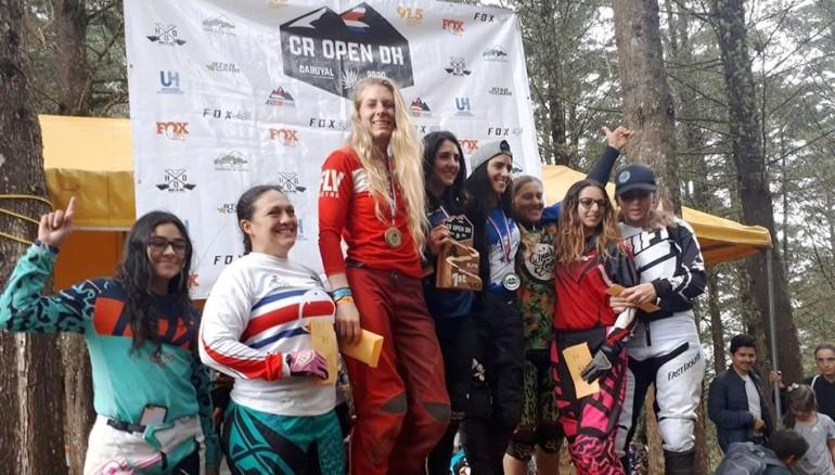 Mariana Salazar reina a nivel centroamericano en downhill. /Foto Asociacion Costarricense de Downhill
