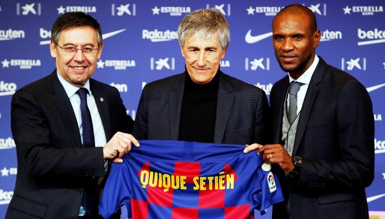 Quique Setién fue presentado hoy como nuevo entrenador del Barcelona. /EFE