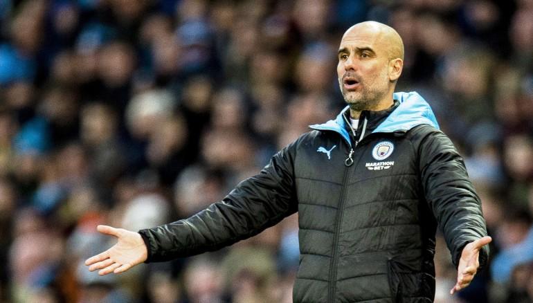 Pep Guardiola, entrenador del City. /Foto EFE