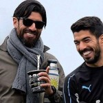 Sebastián Abreu junto a Luis Suárez. /Foto Instagram