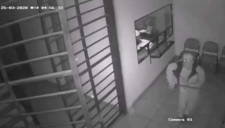 Captura de pantalla del video de seguridad.