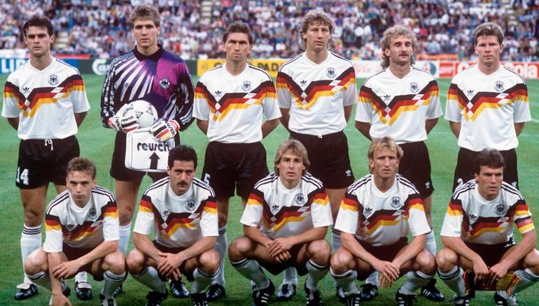 Selección alemana campeona en Italia 90.