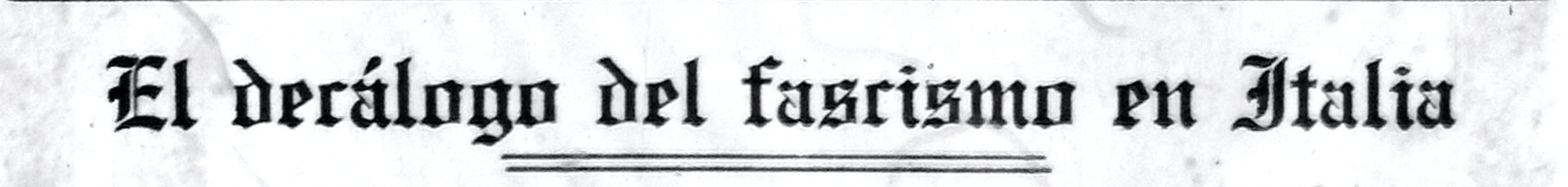 Decálogo.Fascismo