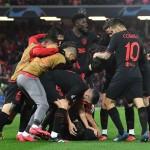 Imagen del partido entre el Liverpool y el Atlético en Anfield.