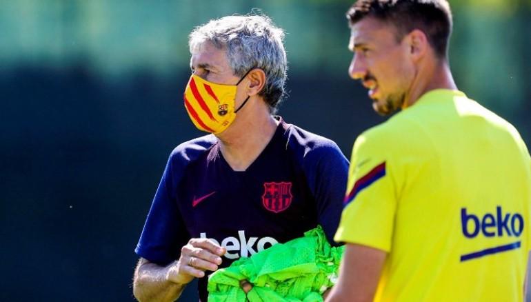 Quique Setién, DT del Barcelona. /Foto FC Barcelona