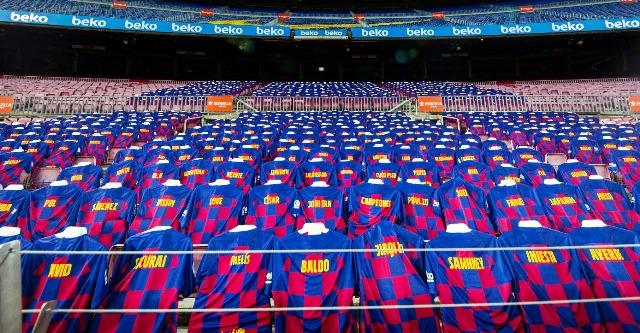 Así lució hoy el campo del Barcelona. /Foto Barcelona