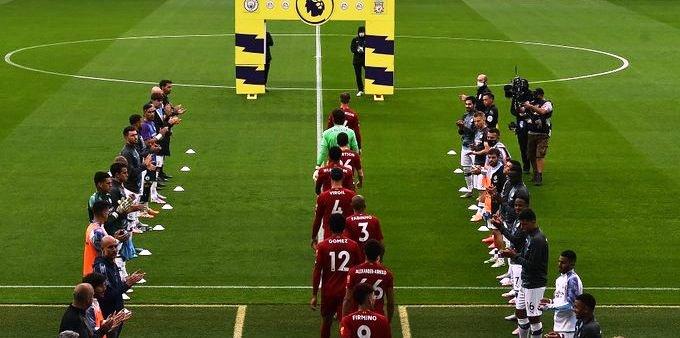 El pasillo que le realizó el City al campeón de la Premier League. /Foto Premier League