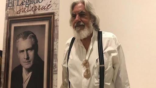 el pintor Ricardo Humano es también donante al Museo de la Palabra y la Imagen de el Legado de Salarrue en 2003