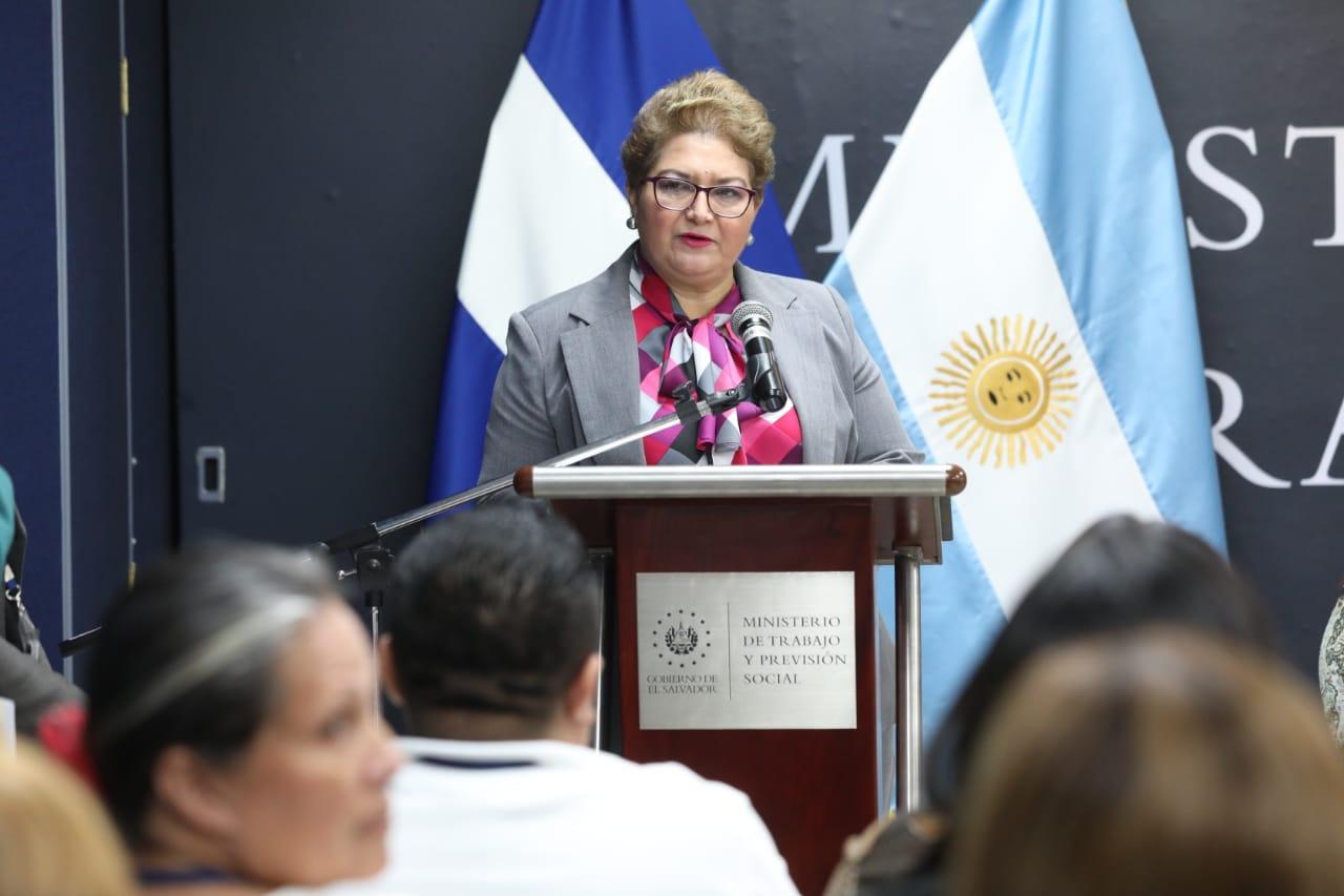 Viceministra de Trabajo, Maritza Haydee Calderón. FOTO: @TrabajoSV