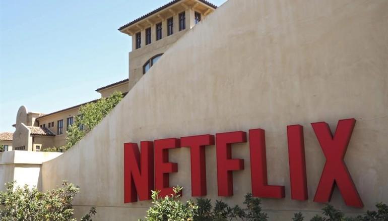 La fachada de oficinas del gigante digital Netflix. /FOTO: EFE