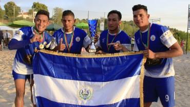 De izquierda a derecha: Heber Ramos, Exon Perdomo, Elmer Robes y Rubén Batres. /Foto Vila Flor