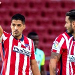 Luis Suárez debutó con doblete y asistencia con el Atleti. /Foto EFE