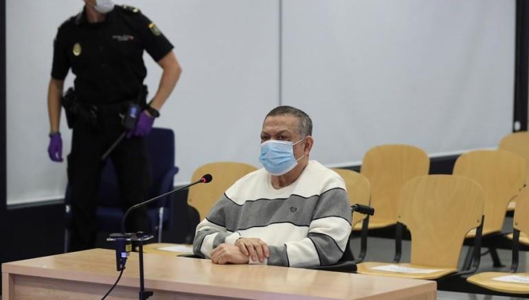 El exmilitar salvadoreño Inocente Orlando Montano en la primera sesión del juicio. EFE/ Kiko Huesca (Archivo)