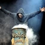 El vocalista de la banda británica Iron Maiden, Bruce Dickinson. Foto de EFE.