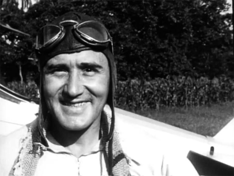 Alfredo Massi antes de filmar en el aire ARCHIVO MUPI