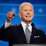 Joe Biden, candidato demócrata y ex vicepresidente durante la gestión de Barack Obama, en una foto tomada en el debate presidencial del 29 de septiembre pasado. EFE