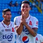 Bryan Tamacas festeja el primero de los dos goles anotados esta tarde. /Foto Alianza FC