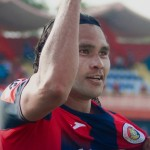 "Carlos ""Gullit"" Peña se erizó al anotar su primer gol con FAS. /Foto: C.D. FAS"