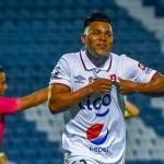 Michell Mercado festeja uno de los dos goles que aportó en la primera jornada del Clausura 2021. /Foto Alianza FC