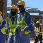 Trabajadores migrantes en Catar. /Foto redes
