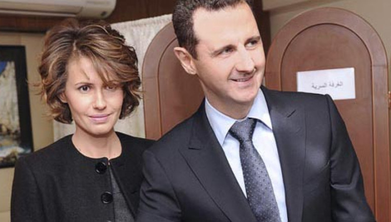 Bachar al Asad, junto a su esposa Asma. Foto: Efe.