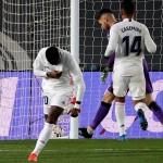 Vinicius celebra su gol ante la Real Sociedad. /EFE