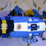 Fotografía de archivo con el cajón donde yacía el cuerpo de Maradona. EFE/Juan Ignacio Roncoroni