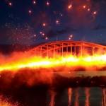 Así lució el el famoso puente John Frost Bridge de Arnhem. /Foto Vitesse