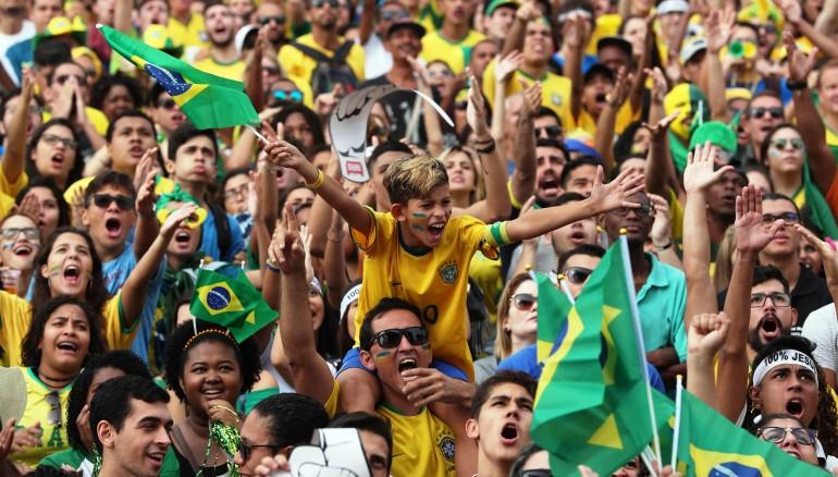 Aficionados brasileños. /EFE
