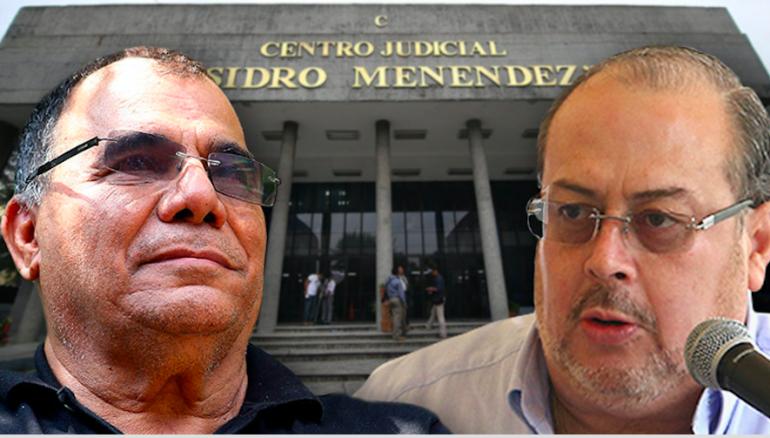 Fotoarte D1. De izquierda a derecha: José Adán Salazar, alias Chepe Diablo, y Marco Fortín Huezo