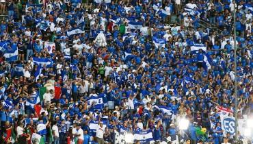 Así lució anoche el Cotton Bowl de Dallas en el partido entre El Salvador y México en la Copa Oro. /Foto Deporte Total USA.
