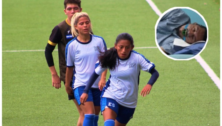 Stefani López (de frente) necesita fondos para la operación de su padre.