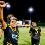 Amando Moreno festeja su gol y el triunfo. /Foto @NewMexicoUTD