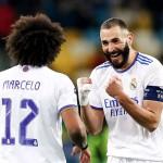 Marcelo junto a Benzema. /Foto Real Madrid